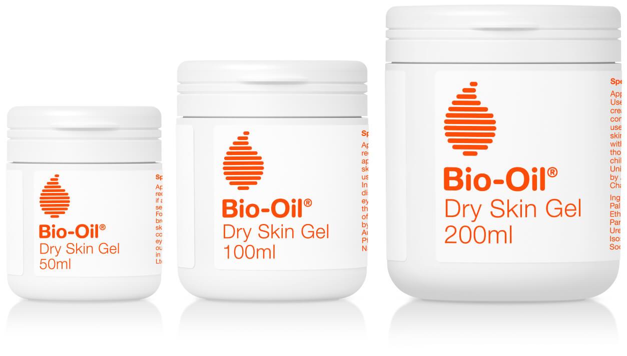 bio-oil dry skin gel packshots